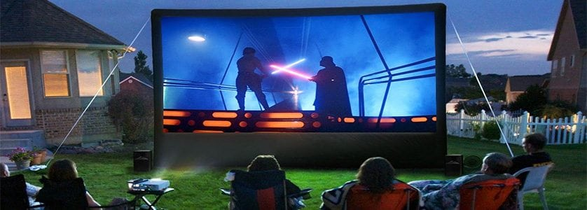 DIY Projects: Backyard Movie Theater