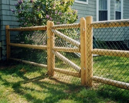 Post & Dowel Fence With Weld Wire