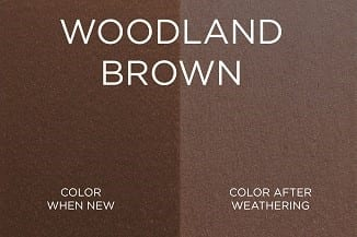 Wood Brown Trex Fence Color
