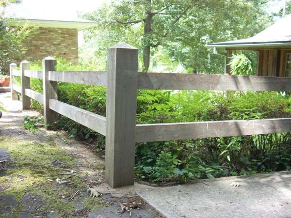 Mortised fence