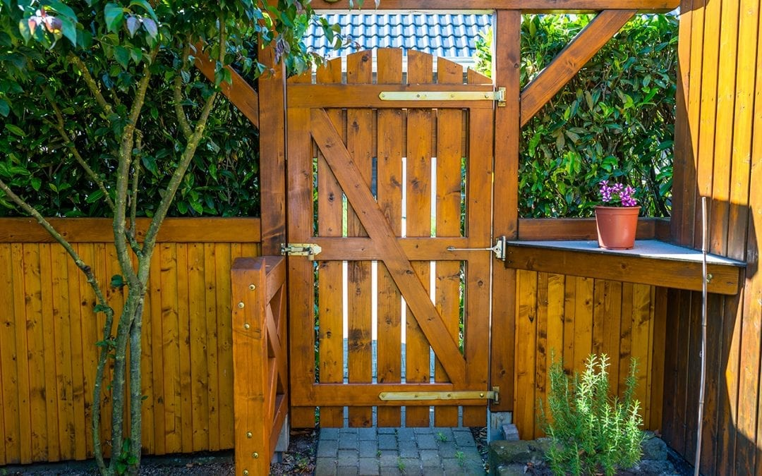 fence on uneven ground
